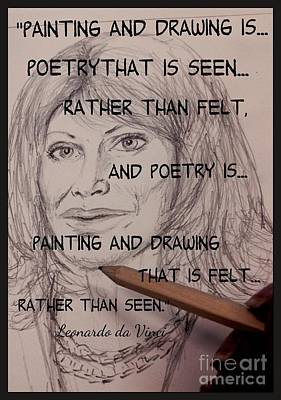 Drawing - Painting And Drawing Is Poetry by Joan-Violet Stretch