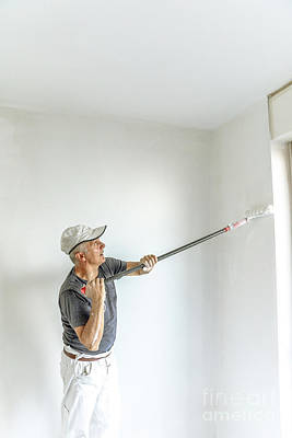 Photograph - Painting Blank Wall by Benny Marty
