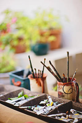 Photograph - Painting Brushes by Ilker Goksen