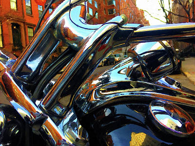 Painting - Painting Cold Chrome New York by Tony Rubino