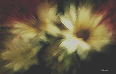 Painting Flowers Art Print by Linda Sannuti