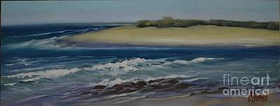 Painting - Painting Happy Valley Caloundra Qld Plein Air Painting by Chris Hobel