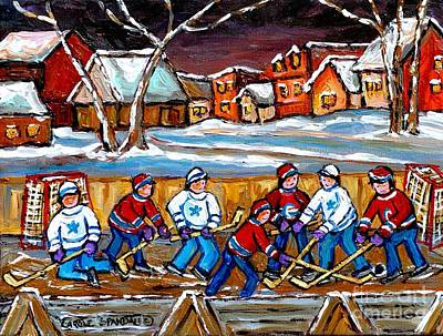 Painting - Painting Hockey Art Hockey Sticks Hockey Goalies Best Original Hockey Art  by Carole Spandau