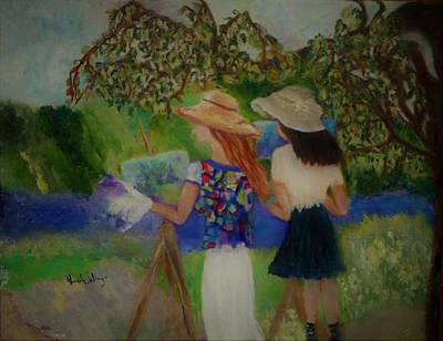 Painting - Painting In France by Aleezah Selinger