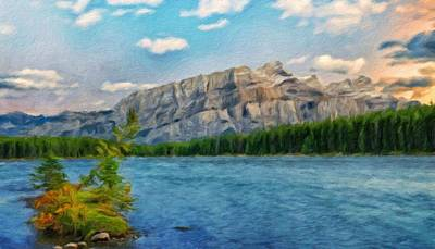 Bob Ross Painting - Painting Landscape by Margaret J Rocha