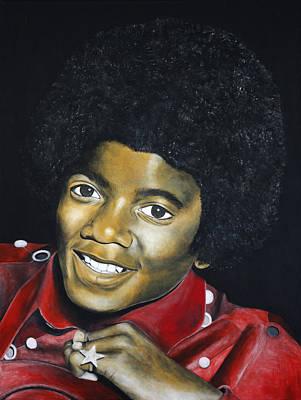 Painting Michael Jackson Original