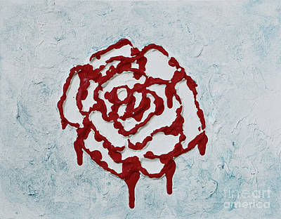 Painting - Painting My Roses Red by Alys Caviness-Gober