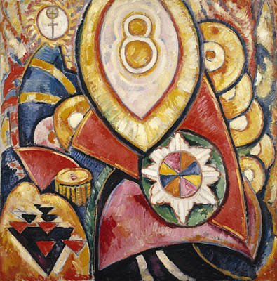 Painting No. 48 Art Print by Marsden Hartley