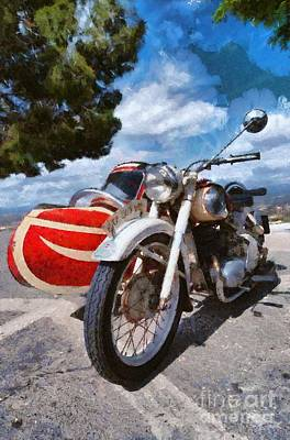 Collectible Painting - Painting Of 1951 Puch 250 Tf Bj by George Atsametakis