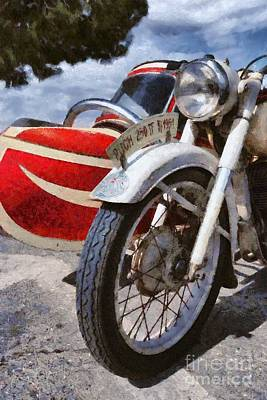 Brand Painting - Painting Of A 1951 Puch 250 Tf Bj by George Atsametakis