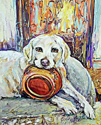 Wall Art - Painting - Painting Of A Family Pet by Kim Guthrie