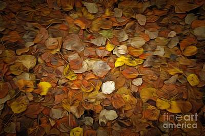 Painting - Painting Of Autumn Leaves by George Atsametakis