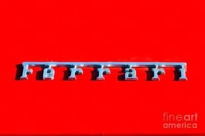 Ferrari Painting - Painting Of Ferrari Logo by George Atsametakis