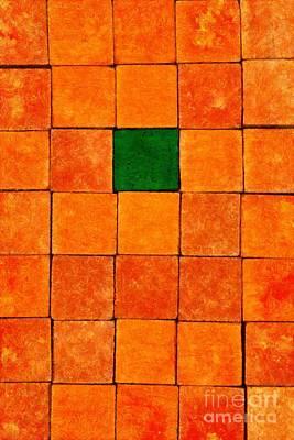 Craft Painting - Painting Of Handicraft Cubes by George Atsametakis