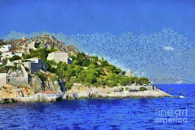 Painting - Painting Of Hydra Island II by George Atsametakis