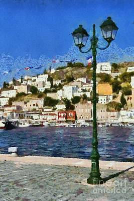 Painting - Painting Of Hydra Island IIi by George Atsametakis