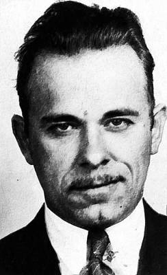 Bank Robber Painting - Painting Of John Dillinger Mug Shot by Tony Rubino