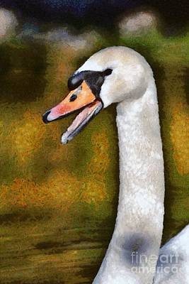Painting - Painting Of Mute Swan by George Atsametakis