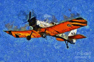 Painting - Painting Of Pezetel Aircraft Of Hellenic Air Force by George Atsametakis