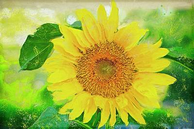Painting - Painting Of Sunflower by Garvin Hunter