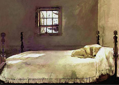 Painting - Painting Of The Print, Master Bedroom by Troy Caperton