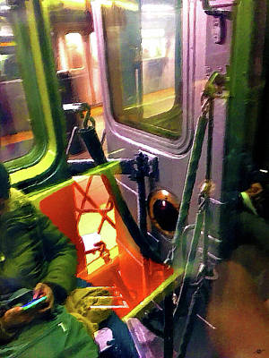 Painting - Painting On The New York City Subway by Tony Rubino