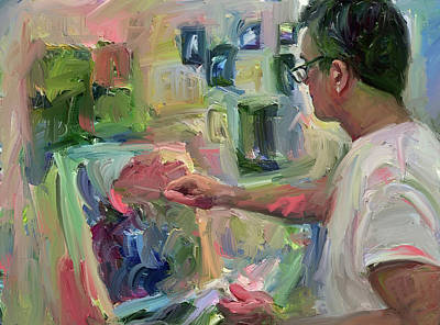 Digital Art - Painting Painter by Yury Malkov
