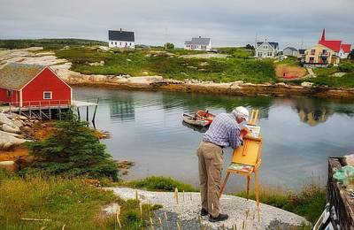 Photograph - Painting Peggys Cove by Mary Capriole