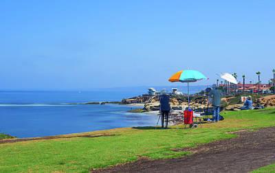 Painting The Coastline Art Print