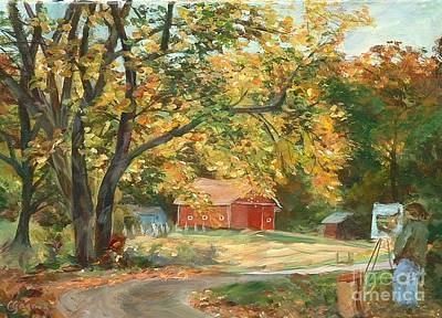Painting - Painting The Fall Colors by Claire Gagnon