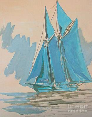 Bluenose Painting - Painting The Preliminary Steps by John Malone