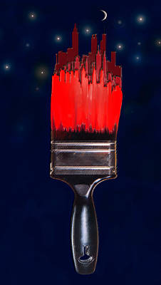 Painting The Town Red Art Print by Jane Schnetlage