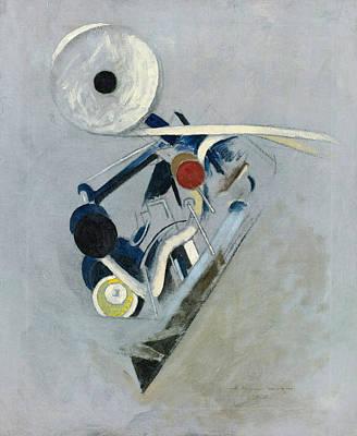 Painting - Painting Vi. Camera Flashlight. Machine Still Life by Morton Livingston Schamberg