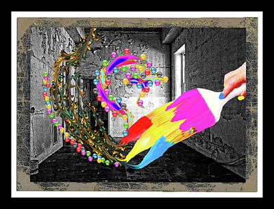 Surrealism Digital Art - Painting Vivid Colors In The Hall by Constance Lowery