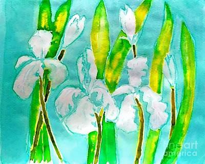 Digital Art - Painting White Liles by Delynn Addams