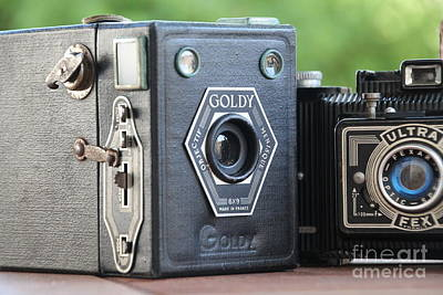 Photograph - Painting With Light ....vintage Cameras  by Lynn England