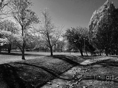 Photograph - Painting With Shadows - Black And White by Scott D Van Osdol