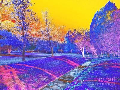 Indiana Winters Digital Art - Painting With Shadows by Scott D Van Osdol