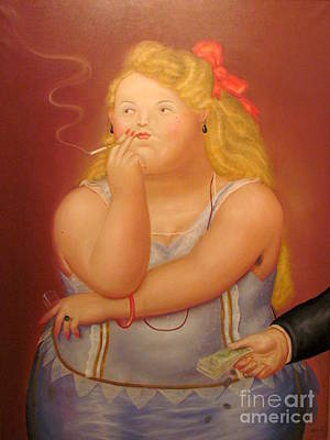 Painting Woman Art Print