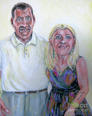Painting - Painting.portrait. Robert And Oksana by Oksana Semenchenko