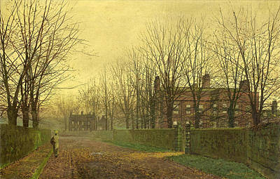 Grimshaw Painting - Paintings Autumn Afterglow by MotionAge Designs
