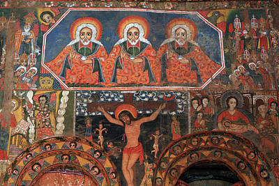 Religious Art Photograph - Paintings Inside Debre Birhan Selassie Church by Aidan Moran