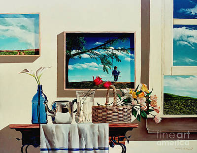 Paintings Within A Painting Art Print