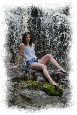 Photograph - Paintography Emily At The Falls by Dan Friend