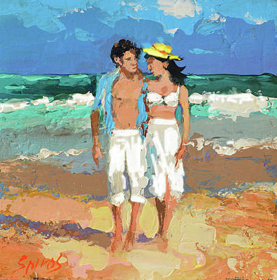 Painting - Pair By The Sea by Dmitry Spiros