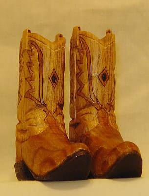 Pair Of Cowboy Boots Original by Russell Ellingsworth