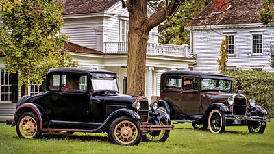 Art Print featuring the photograph Pair Of Ford Model A  by Susan Rissi Tregoning