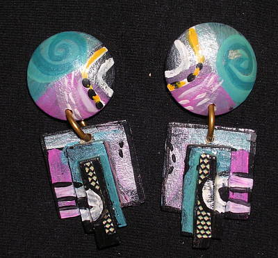 Jewelry - Pair Of Hand Painted Earrings by Barbara Yalof