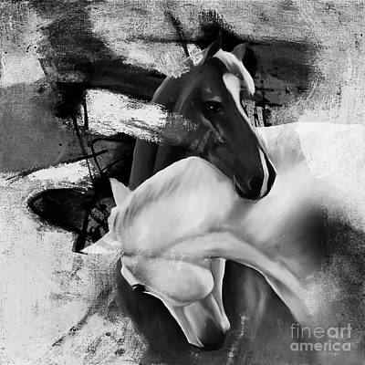 Libertarian Party Painting - Pair Of Horse  by Gull G