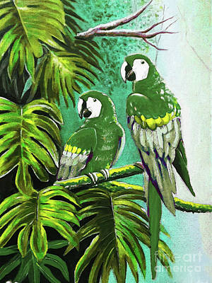 Painting - Pair Of Parrot  by Gull G
